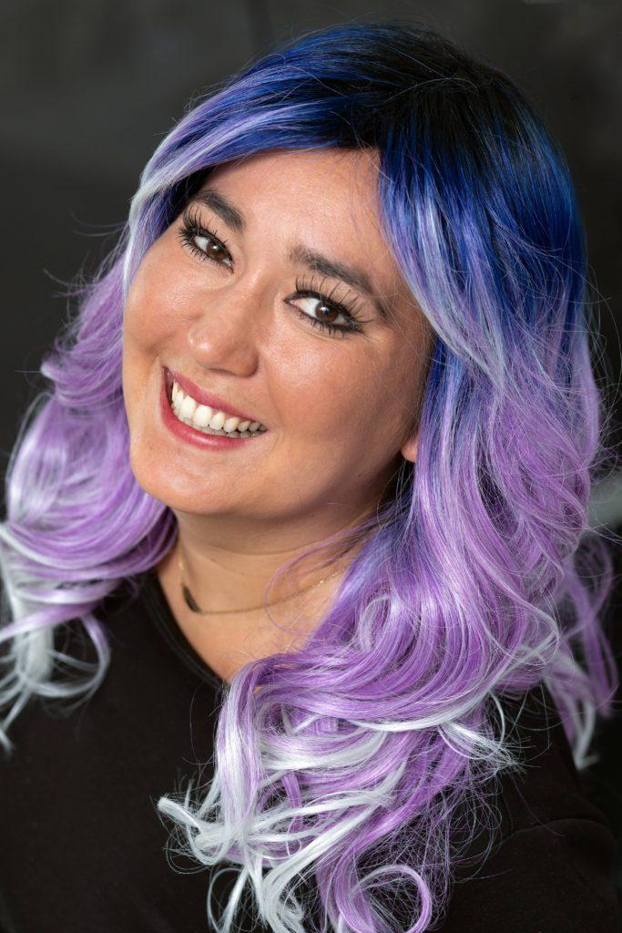 Haarwerk voor vrouw kleurrijk